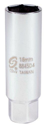 Sunex 884504 3/8-Inch Drive Thin Wall, Metric, Spark Plug Socket, CR-MO