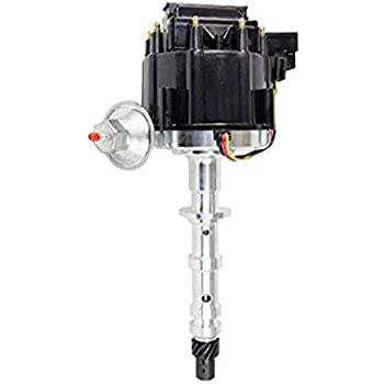 BIG BLOCK CHEVY 348 409 PRO SERIES Red Small Cap HEI Distributor Chrome Coil