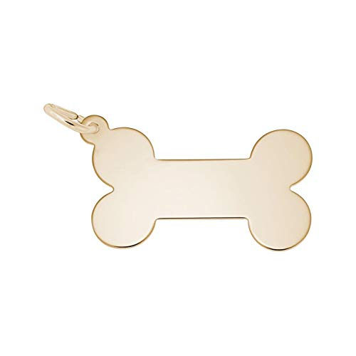 Yellow Gold Dog Bone Charm by Rembrandt Charms (Image #1)