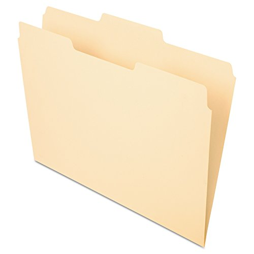 Manila Top Single Folders (Pendaflex File Folders, Letter Size, Manila, 1/3 Cut, 100/BX (752 1/3-2))