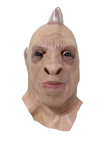 (MostaShow Halloween Costume Cosplay Masks Latex Animal Full Head Masks (Rhino)