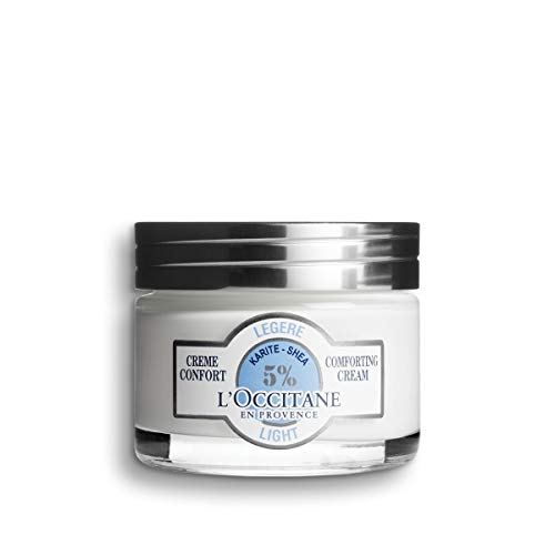 L Occitane Light 5 Shea Butter Face Cream for Normal to Combination Skin, 1.7 Oz