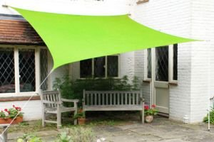 Kookaburra Waterproof Sun Sail Shade – Lime Green - 11ft 10' Triangular