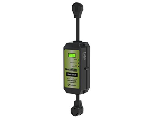 Surge Guard 34830 Portable Model with LCD Display - 30 Amp (Best 30 Amp Rv Surge Protector)