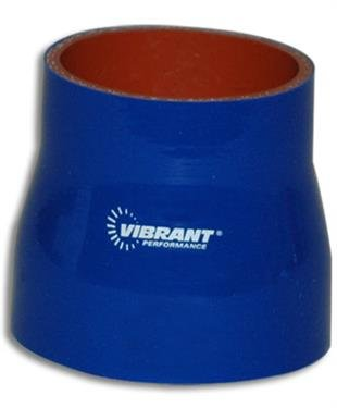 VIBRANT 2776B 4 Ply Reinforced Silicone Sleeve Connector, Blue