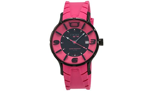 NOA-Black-PVD-coated-Case-Black-Fucsia-Dial-Fushia-Rubber-Strap-Quartz-Watch-IRB003