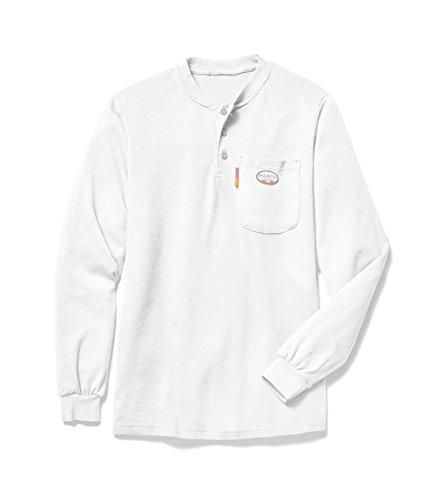 Rasco FR Men's White Henley T-Shirt