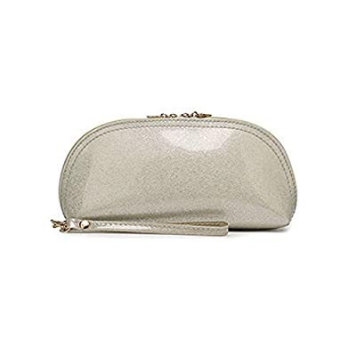 Patent Leather Casual Multifunction Purse Coin Purse Handbag Cosmetic Bag Hot (color - Milk white)