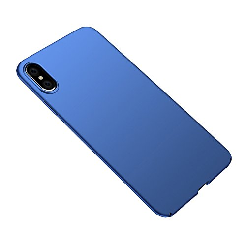 Innolage iPhone X Case, Ultra-Thin Case Hard Plastic PC Slim Phone Case, Seamless Edging Without Looseness, Matte Finish(Blue)