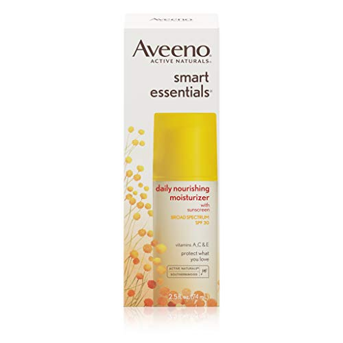 Oil Free Moisturizer Sunscreen - Aveeno Smart Essentials Daily Nourishing Moisturizer Oil Free With Broad Spectrum Spf 30, 2.5 oz