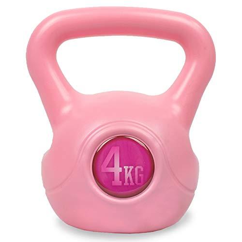 Phoenix Fitness Vinyl Kettlebell 2kg, 4kg, 6kg, 8kg, 10kg, 12kg, 16kg, 20kg – zwaar gewicht waterkoker Bell voor thuis…