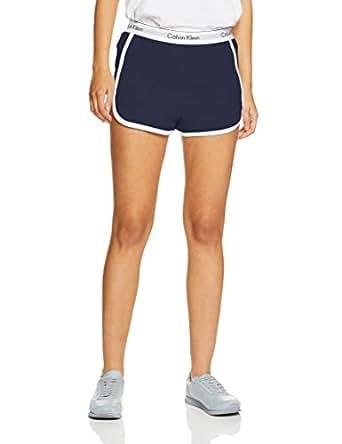 Calvin Klein Women's Modern Cotton Loungewear Sleep Shorts, Shoreline Blue, X-Small