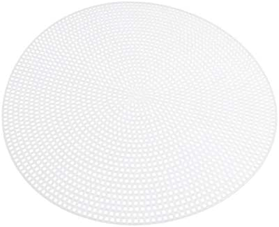 Exceart 10pcs Plastic Canvas DIY Canvas Shape for Cross Stitch Embroidery Needlepoint Craft Needlepoint Mesh Art Project Round 20cm