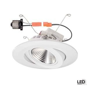 Commercial Electric 6 in. Recessed White Gimbal LED Trim