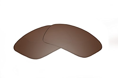 SFx Replacement Sunglass Lenses fits Smith Interlock Spoiler 63mm wide (Ultimate Brown Gradient Hardcoat Pair-Regular)