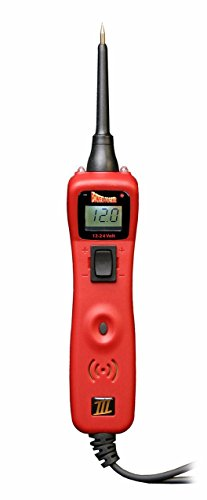 POWER PROBE III Clamshell - Red (PP3CSRED) [Car Automotive Diagnostic Test Tool Power Up Electrical Components Digital Volt Meter ACDC Current Resistance Circuit Tester LCD Screen Flashlight Short Circuit Indicator Audible Tone]