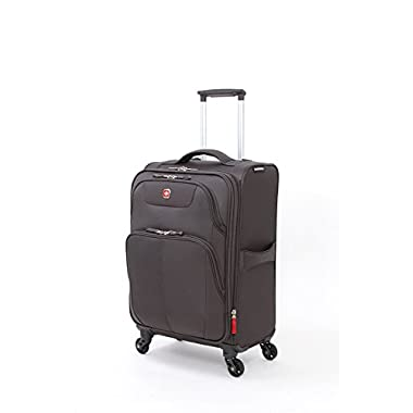SwissGear Meyrin 20  Expandable Spinner Suitcase, Charcoal