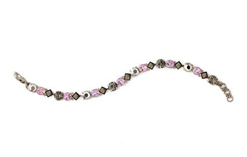 Sorrelli Darling Dmnds Purple Lotus Swarovski Crystal Antique Silvertone Tennis Bracelet ()