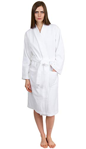 (TowelSelections Women's Robe Turkish Cotton Terry Kimono Bathrobe Large/X-Large White)