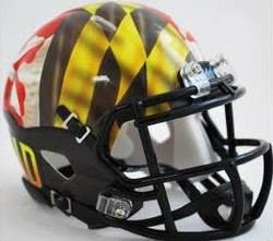 Maryland Terrapins Riddell Speed Mini Replica Pride Football Helmet by Riddell