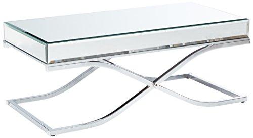 247SHOPATHOME IDF-4230CRM-C Coffee-Tables, Chrome