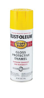 - 12 Oz Sunburst Yellow Gloss Protective Enamel [Set of 6]