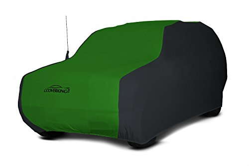 Coverking Custom Car Cover for Select Toyota Land Cruiser Models - Satin Stretch (Synergy Green with Black Sides)