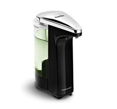 simplehuman Touch-Free Automatic Sensor Soap Pump With Lavender Liquid Soap Sample, Brushed Nickel, 8 fl. oz.