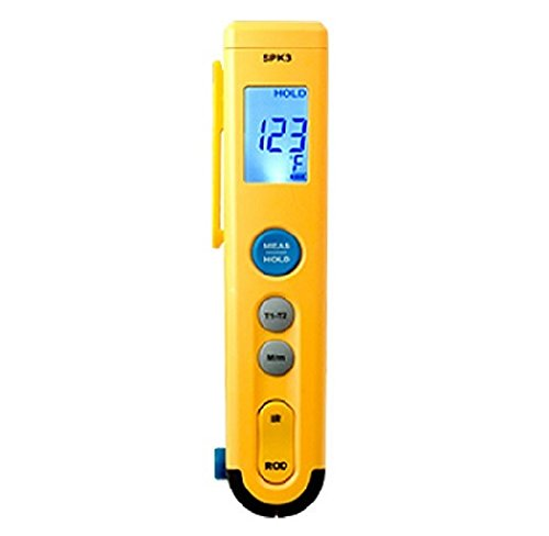Fieldpiece SPK3 Folding ROD Dual Temperature Thermometer with 8:1 Infrared Gun by Fieldpiece (Image #1)