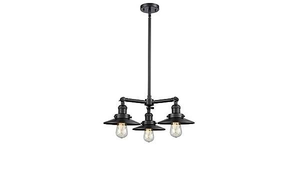 Innovations 207-BK-G61 3 Light Chandelier Matte Black