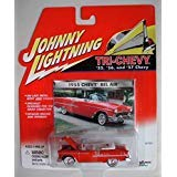 JOHNNY LIGHTNING TRI-CHEVY SERIES RED 1955 CHEVY BEL AIR CONVERTIBLE