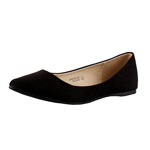 Bellamarie+Angie-28+Women%27s+Classic+Pointy+Toe+Ballet+Flat+Shoes%2C6+B%28M%29+US%2CBlack