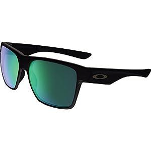 Oakley Men's Twoface Xl Non-Polarized Iridium Square Sunglasses, Matte Black, 59 mm