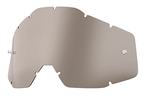 - 100% Speedlab (51001-007-02) RACECRAFT/ACCURI/STRATA Replacement Lens-Smoke Anti-Fog, Free Size)