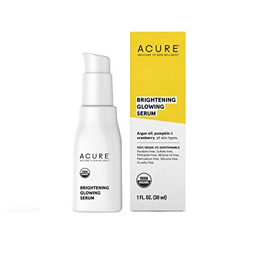 Acure Brightening Glowing Serum, 1 Fluid Ounce (Packaging May Vary)