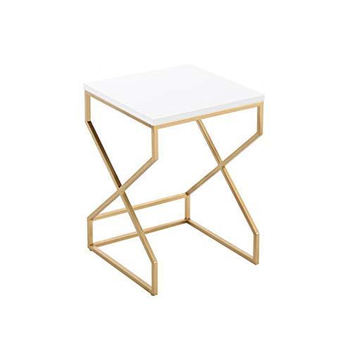 Nido de 2 mesas de Alto Brillo Nesting pequeño Mesa de café Dorado ...