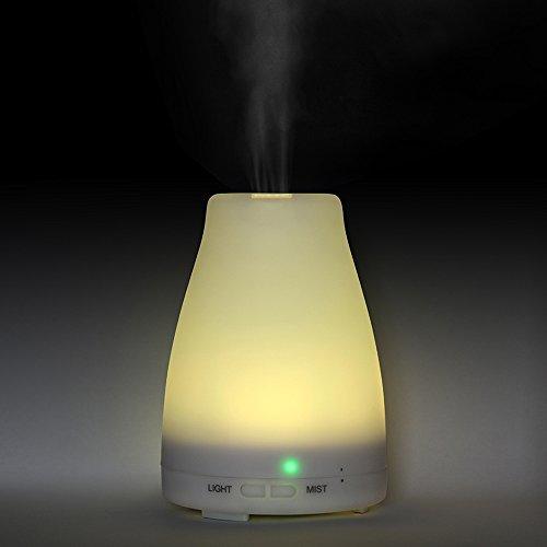 EiioX 120мл ультразвуковой Аромат эфирного масла диффузора, 7 цветов привело изменение