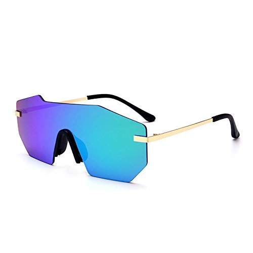 Espejo Übergroßen Einzigartige Designer Verspiegelten Gläser Randlose Negra Lente KXLEB Frauen Sonnenbrille verde Gläsern Marke 8TxBqnR7w6