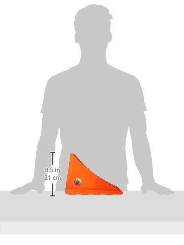 Orange Roadblock UC1600 Impact-Absorbing Urethane Industrial Wheel Chock 11.25 Length 8.0 Width 8.25 Height