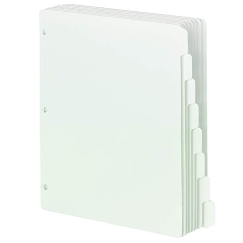 Smead Three-Ring Binder Index Dividers, 1/8-Cut Tab, Letter Size, White, 96 per Box (89418) (Renewed)