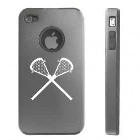 Apple iPhone 4 4S 4G Silver D2320 Aluminum & Silicone Case Cover Lacrosse Sticks