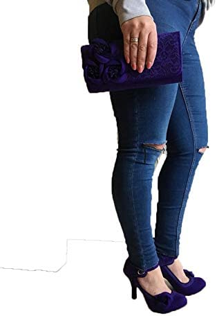 Ruby Shoo Womens Royal Purple Anna Lace Mary Jane Pumps UK 8