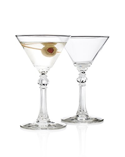 Charles Butterworth 1937 Martini Glass (Gift Box Set of 2) by HISTORY COMPANY