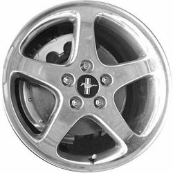 FORD MUSTANG 17X8 5 SPOKE Factory Oem Wheel Rim- POLISHED - Remanufactured