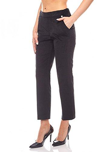 Royal Taille C Velours amp; Rich Femme Courte Pantalon Noir tel en 6xn5fZwqRp