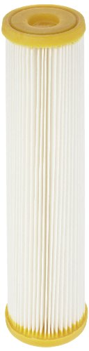 "Pentek ECP50-10 Pleated Cellulose Polyester Filter Cartridge, 9-3/4"" x 2-5/8"", 50 Microns"