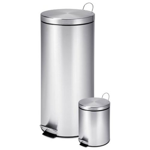 Honey-Can-Do TRS-01886 30-Liter and 3-Liter Stainless Steel Garbage Can Combo Honey-Can-Do International