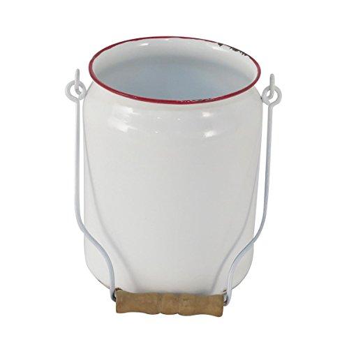 Enamel Jug (Foreside Home & Garden Foreside Enamel Milk Jug with Handle)