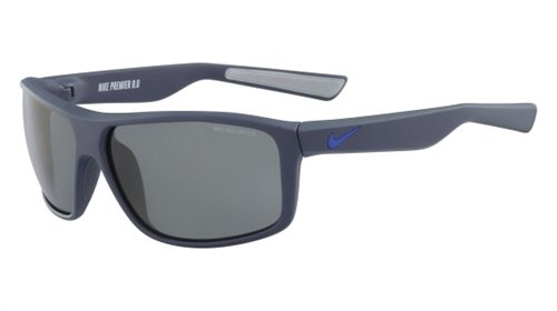 NIKE EV0792-402 Premier 8.0 Sunglasses (Frame Grey with Gunmetal Flash Lens), Matte Squadron Blue/Racer Blue
