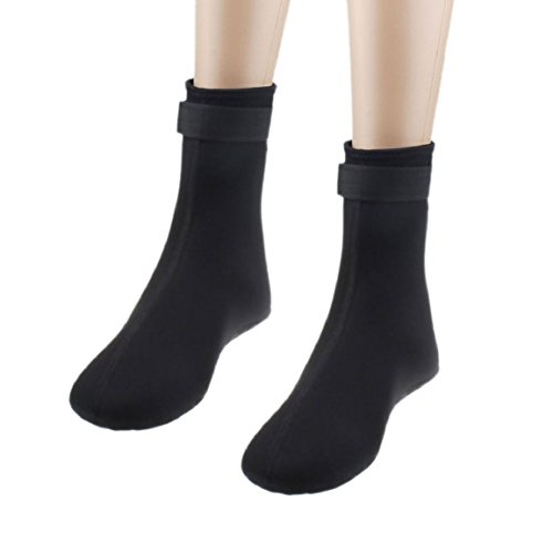 Changeshopping 3mm Water Sports Swimming Scuba Diving Surfing Socks Snorkeling Boots (Black, S)